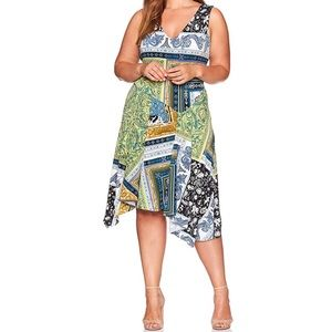 RACHEL Rachel Roy print asymmetrical dress 8014